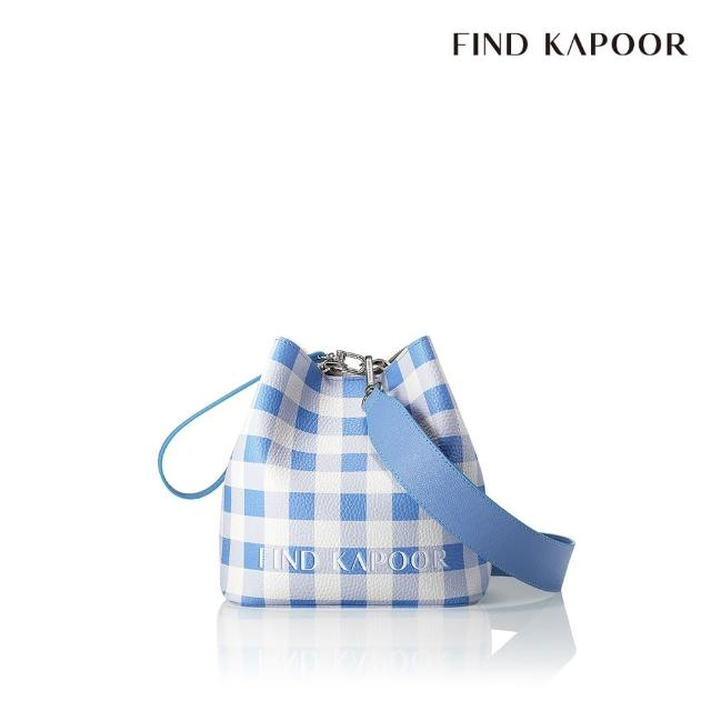 【FIND KAPOOR】PINGO 20 格紋系列 手提斜背水桶包- 水藍