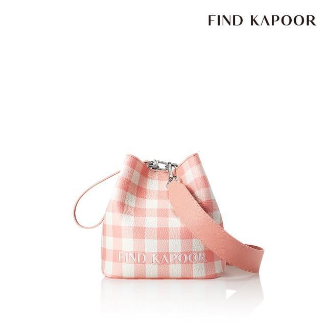 【FIND KAPOOR】PINGO 20 格紋系列 手提斜背水桶包- 粉色