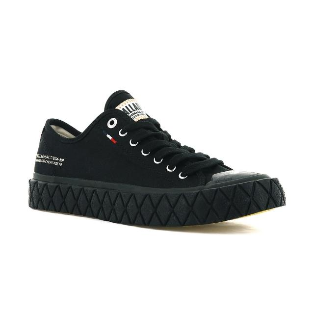 【Palladium】PALLA ACE CVS 黑 男女 休閒 鬆餅鞋(77014008)