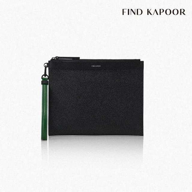 【FIND KAPOOR】CLUTCH 27 十字壓紋系列手拿包 - 黑色