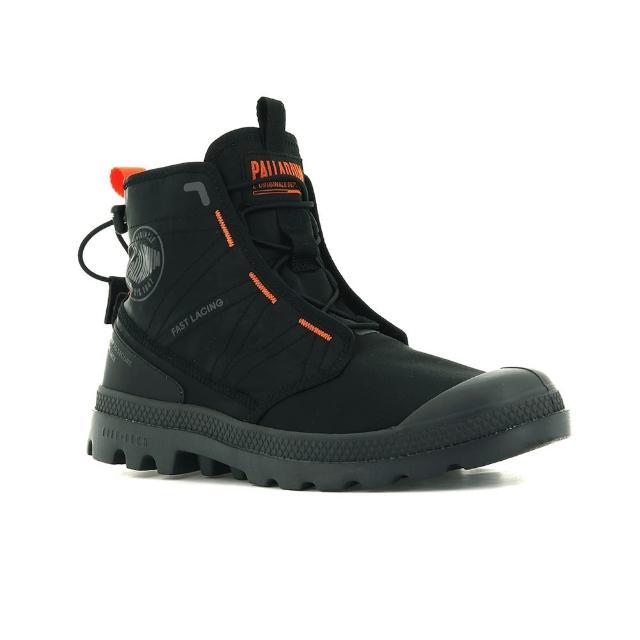【Palladium】PAMPA TRAVEL LITE 黑橘 男女款 高筒靴(77039008)