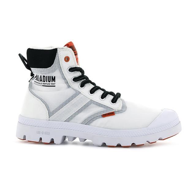 【Palladium】PAMPA LITE+ SC VAPOR WP+輕量拉鍊 防水靴 中性 白 男女鞋(76865100)