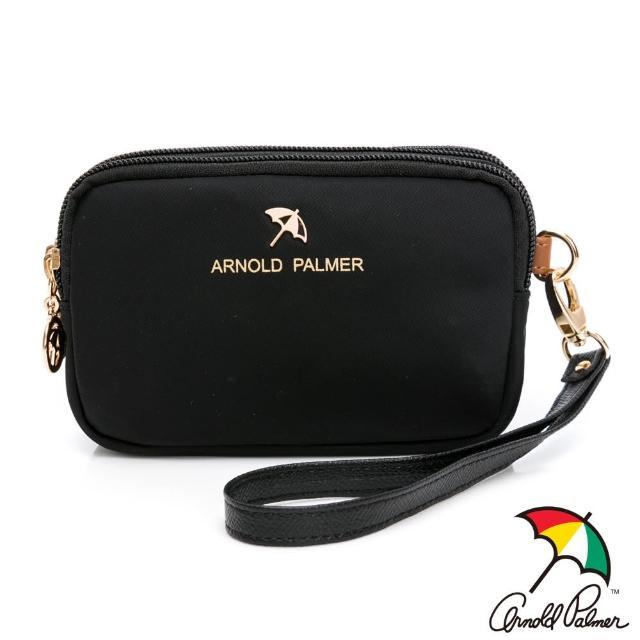 【Arnold Palmer 雨傘】三層萬用包 黑尼龍系列(黑色)