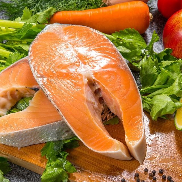 【鮮綠生活】買7送7 智利頂級鮭魚切片 共計14片(220g±10%/片)『momo老饕美味標章』 認證