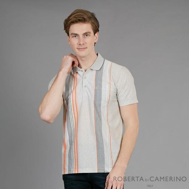【ROBERTA 諾貝達】台灣製 型男休閒時尚穿搭 短袖POLO棉衫(灰色)