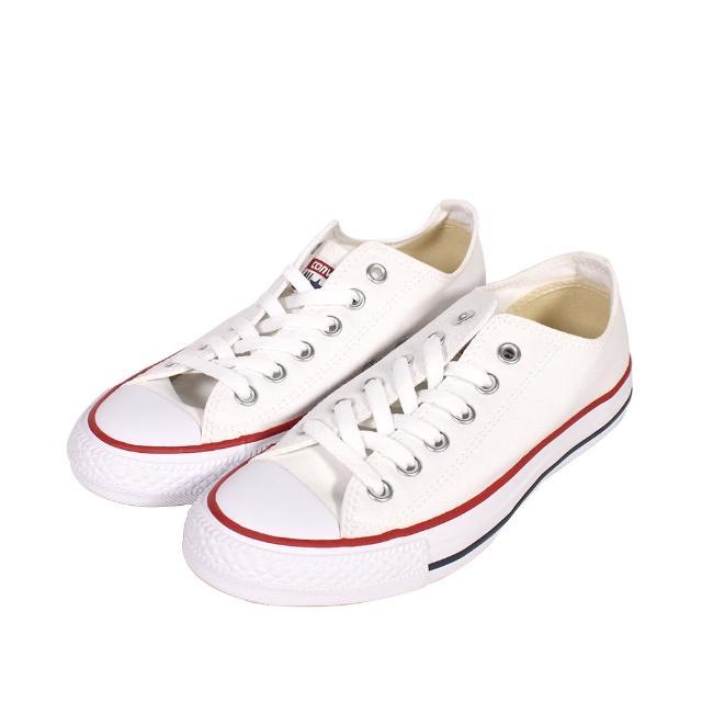 【CONVERSE】帆布鞋 低統 基本款 低筒白帆布 男女 - M7652C