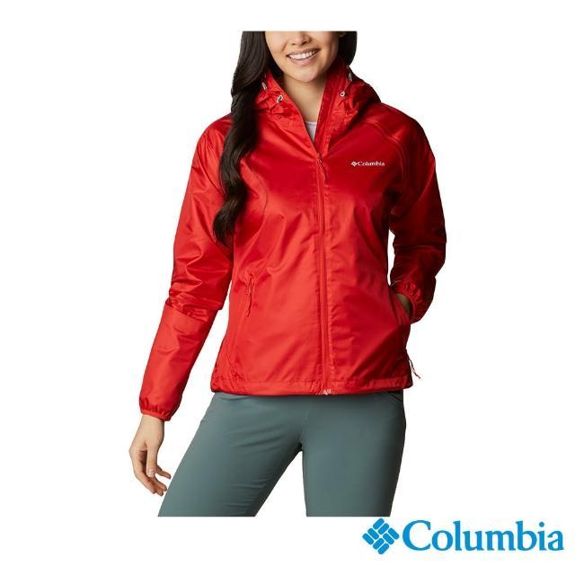 【Columbia 哥倫比亞】女款-Omni-Tech 防水外套-紅色(URR10470RD / 舒適.防水.休閒)