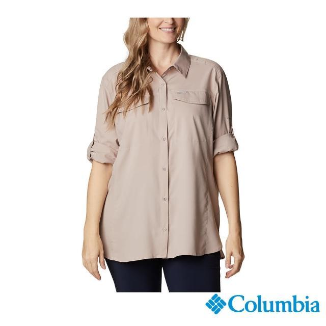 【Columbia 哥倫比亞】女款-UPF40快排長袖襯衫-褐紫(UXR12790MA / 抗UV.快排.襯衫)