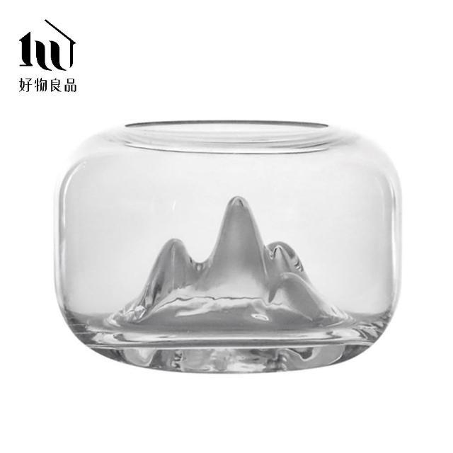 【好物良品】純手工雪山造景玻璃魚缸(高透光)