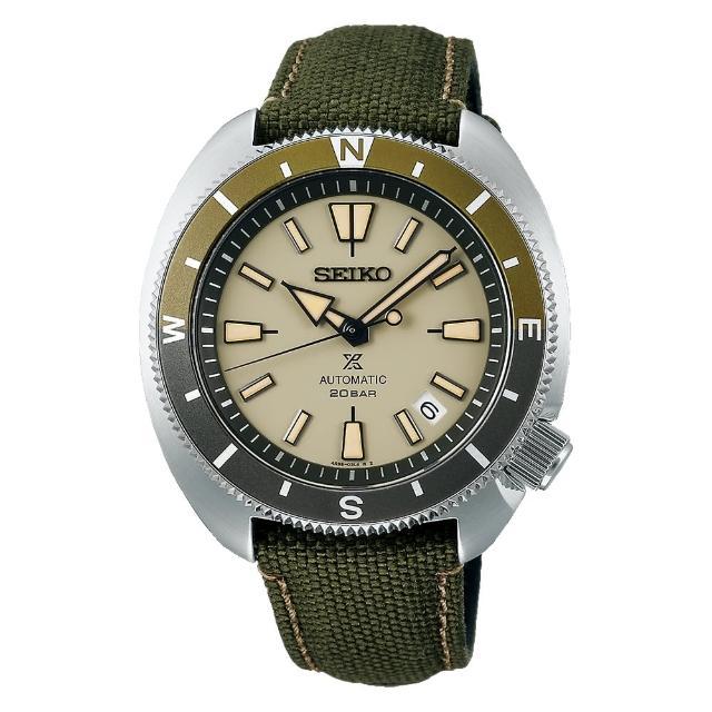 【SEIKO 精工】PROSPEX海龜寶石數23石日期顯示機械錶42.4mm(SRPG13K1/4R35-04Y0G)