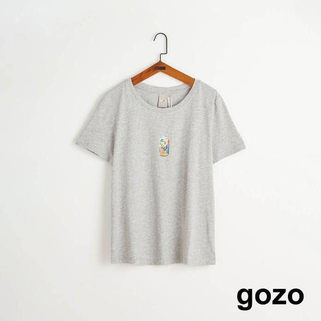 【gozo】趣味環保回收印花T(兩色)