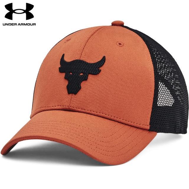 【UNDER ARMOUR】UA 巨石強森系列 男 PROJECT ROCK棒球帽網帽_1361560-843(橙)