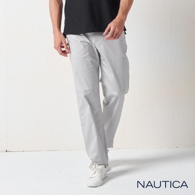 【NAUTICA】男裝 型男百搭休閒長褲(灰色)