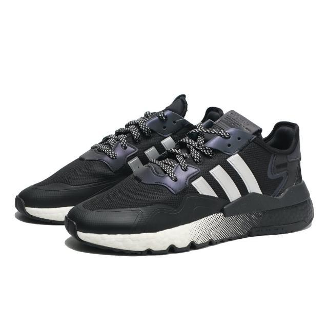 【adidas 愛迪達】休閒鞋 黑白 漸層 反光 運動 NITE JOGGER 男(EF5403)