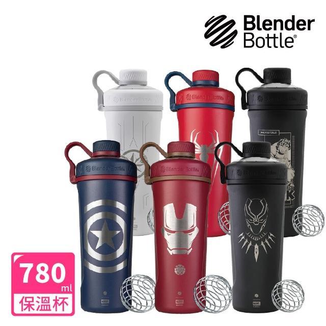 【Blender Bottle】Marvel超級英雄Radian不鏽鋼旋蓋搖搖杯26oz「美國原裝進口」(blenderbottle/運動水壺)