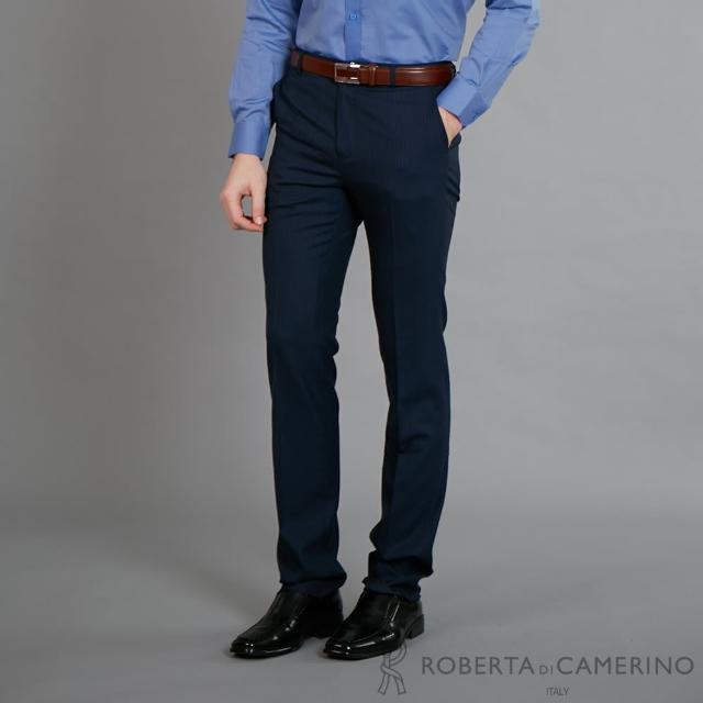 【ROBERTA 諾貝達】進口素材 商務都會精選西裝褲(藍色)