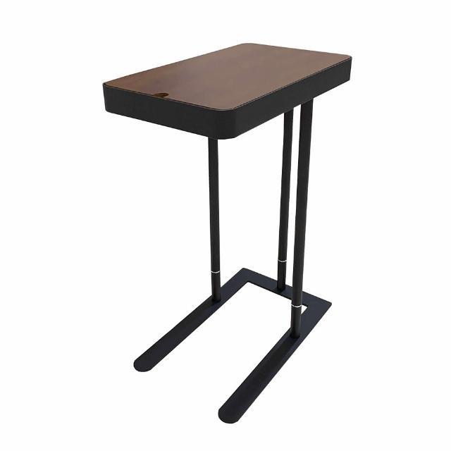 【哈維五金】台灣製T-018工業風木質可調沙發邊桌(邊桌、茶几)