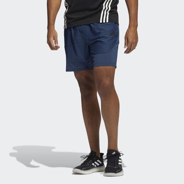 【adidas 愛迪達】短褲 男款 運動 足球 慢跑 H.RDY SHORTS 藍 GM0339
