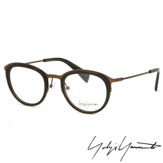 【Y-3 山本耀司】Yohji Yamamoto時尚金屬復古圓框光學眼鏡(黑銅-YY1023-108)