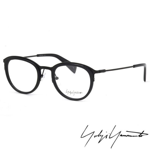 【Y-3 山本耀司】Yohji Yamamoto時尚金屬復古圓框光學眼鏡(黑-YY1023-613)