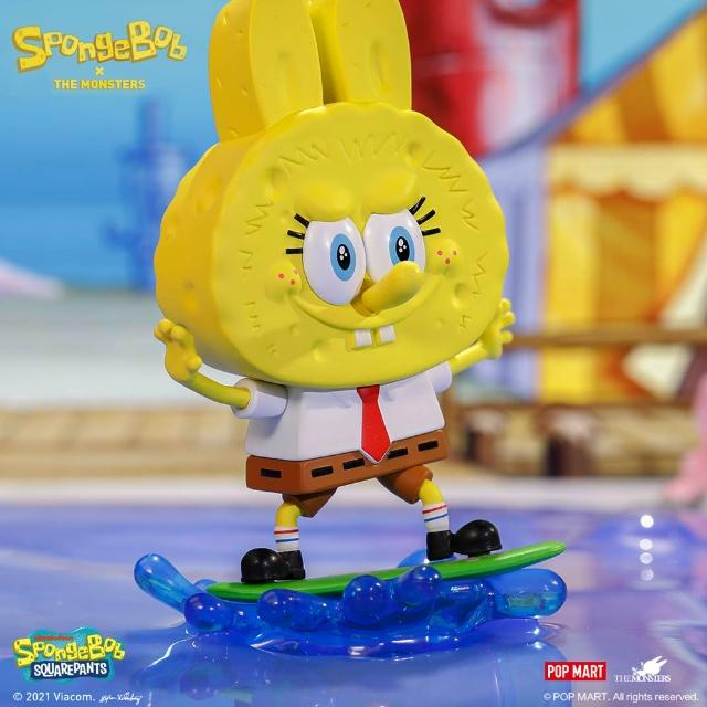【POPMART 泡泡瑪特】LABUBU海綿寶寶系列公仔盒玩(兩入隨機款)