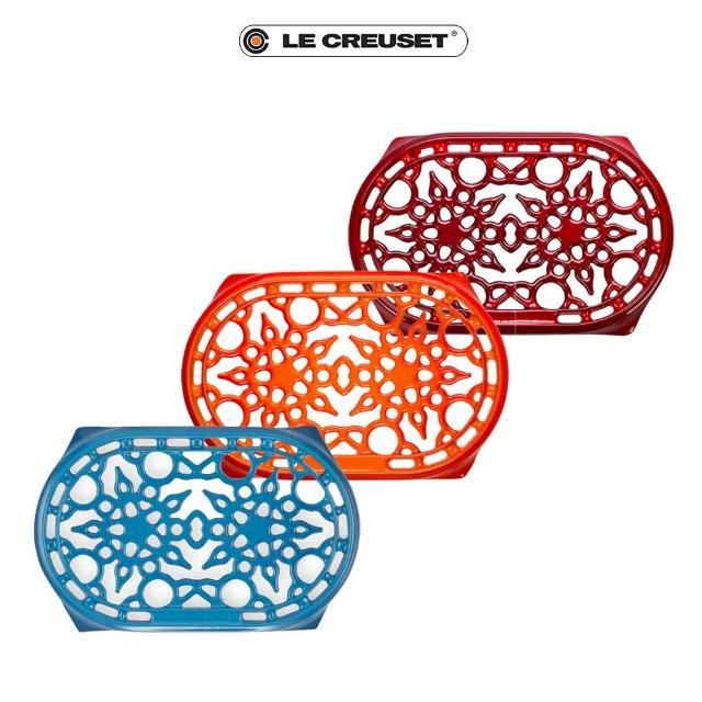 【Le Creuset】琺瑯鑄鐵橢圓鍋架(三色任選)