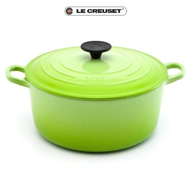 【Le Creuset】琺瑯鑄鐵圓鍋30cm(奇異果綠-電木頭)