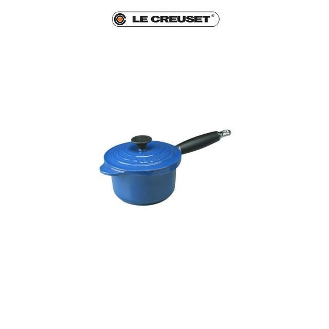 【Le Creuset】琺瑯鑄鐵電木柄醬汁鍋16cm(英國藍)