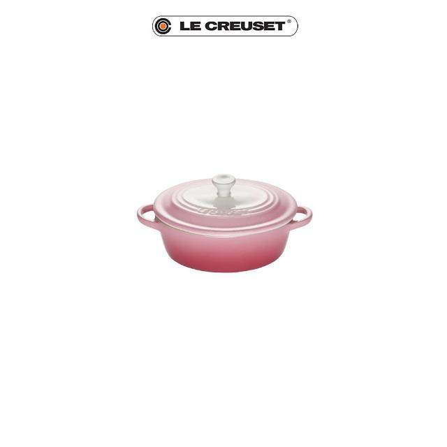 【Le Creuset】瓷器迷你橢圓烤盅(晨曦粉)