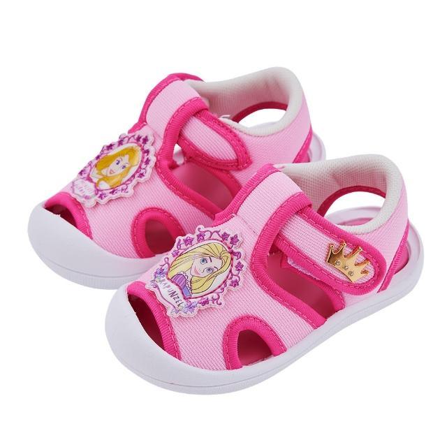 【Disney 迪士尼】迪士尼童鞋 睡美人與長髮公主 立體造型護趾涼鞋-粉(MIT台灣在地工廠製造)