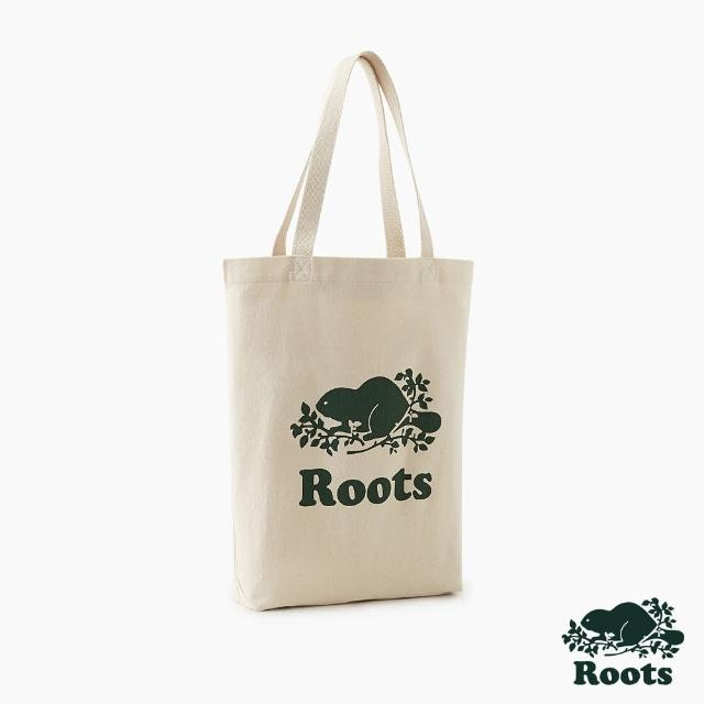 【Roots】Roots配件-有機棉帆布袋(灰白色)