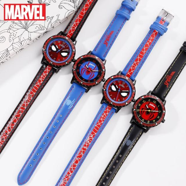 【Disney 迪士尼】漫威系列 蜘蛛人防水石英男款手錶 男童手錶