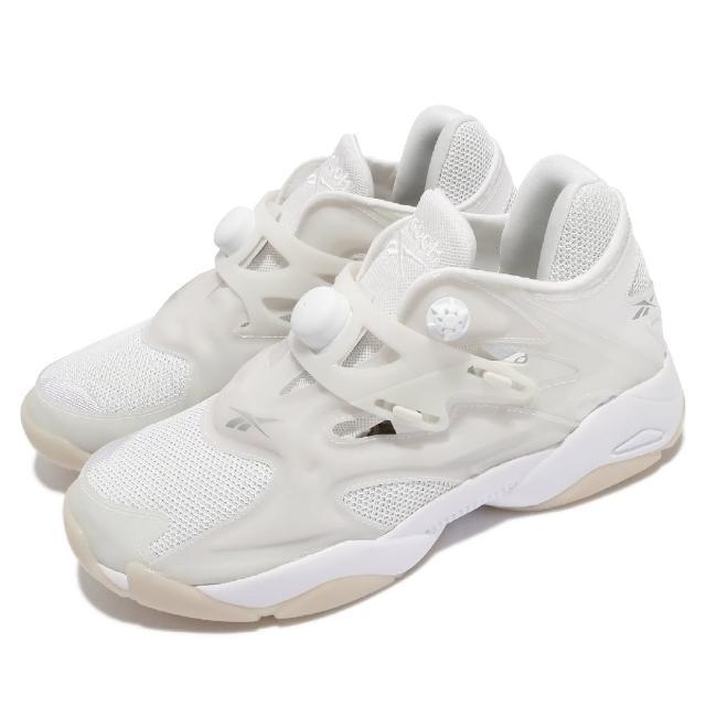 【REEBOK】休閒鞋 Pump Court 襪套 運動 男鞋 海外限定 舒適 避震 充氣科技 穿搭 白 米白(FV5622)