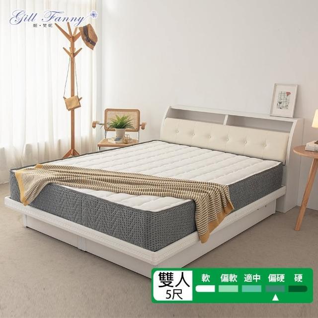 【KIKY】幸福之約3D透氣圍邊硬式獨立筒床墊(雙人5尺)