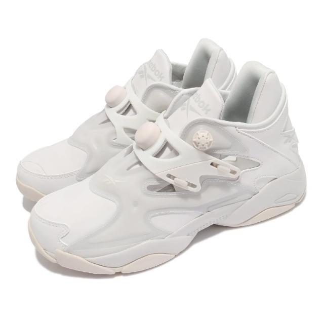 【REEBOK】休閒鞋 Pump Court 襪套 運動 男鞋 海外限定 輕量 舒適 充氣科技 反光 白 灰(FX9925)
