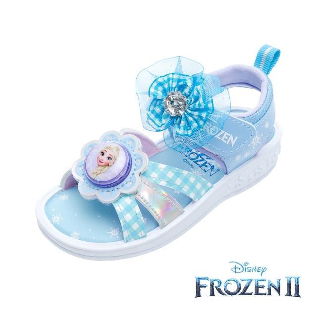 【Disney 迪士尼】冰雪奇緣 電燈款 休閒涼鞋 水藍(FOKT15256正版授權)