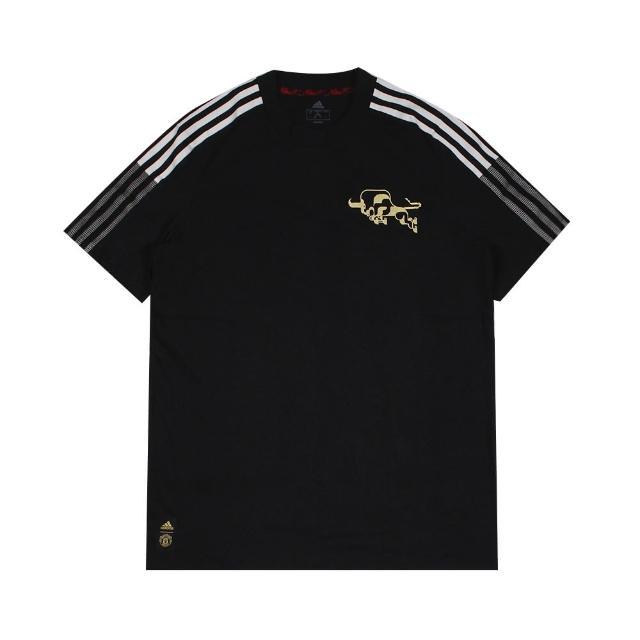 【adidas 愛迪達】圓領T 短 MUFC CNY TEE 男 - GK9414