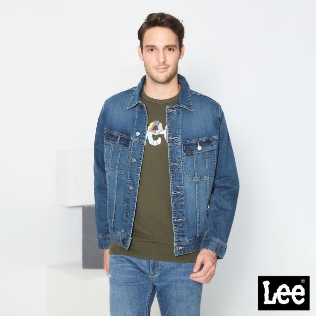 【Lee】經典雙口袋 男牛仔外套