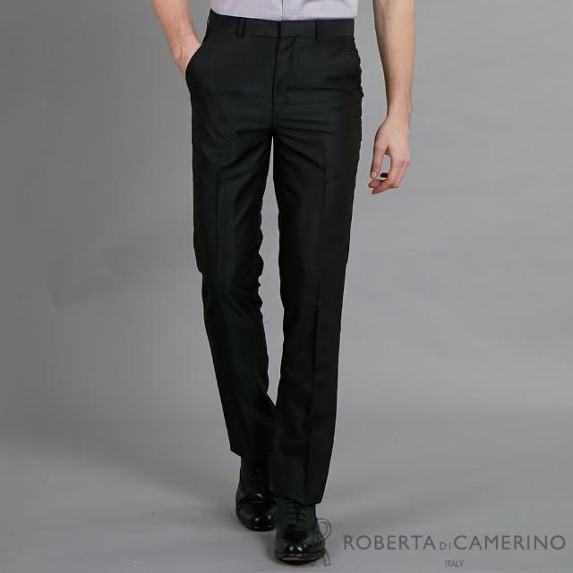 【ROBERTA 諾貝達】流行時尚 修身窄管版西裝褲(黑色)