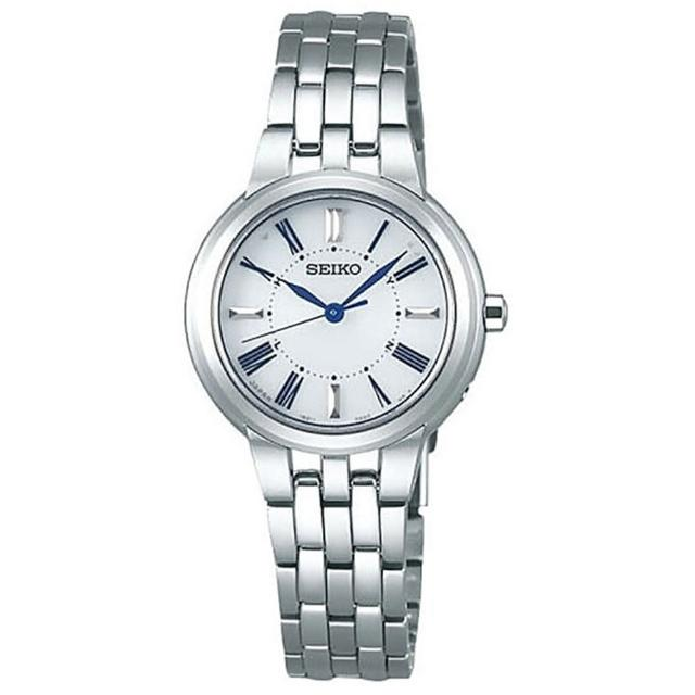 【SEIKO 精工】SPIRIT太陽能電波腕錶-銀色28mm(SSDY023J/1B21-0AN0S)