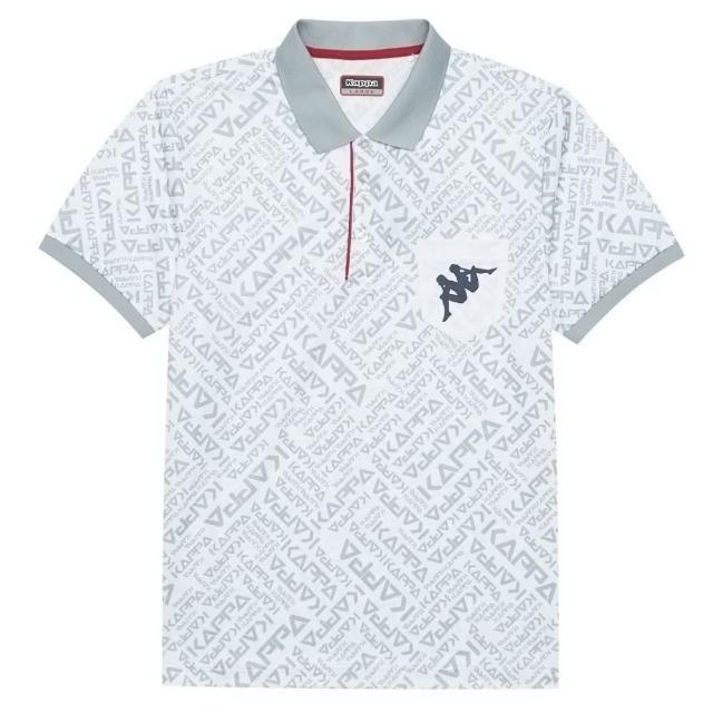 【KAPPA】義大利型男吸濕排汗速乾短袖 彩色排汗POLO衫(白 321848W001)