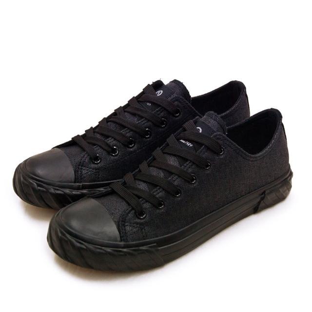 【ARNOR】男 韓系經典復古帆布鞋 黑幕系列(黑 03010)