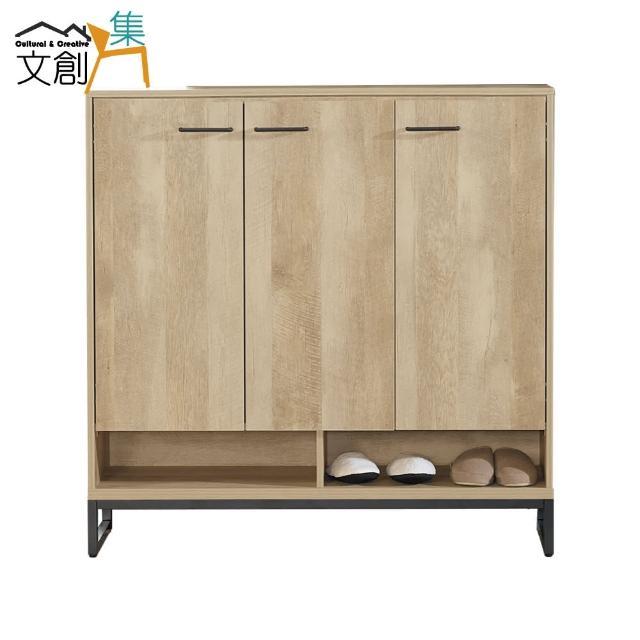 【文創集】比格斯 時尚4尺三門鞋櫃/收納櫃