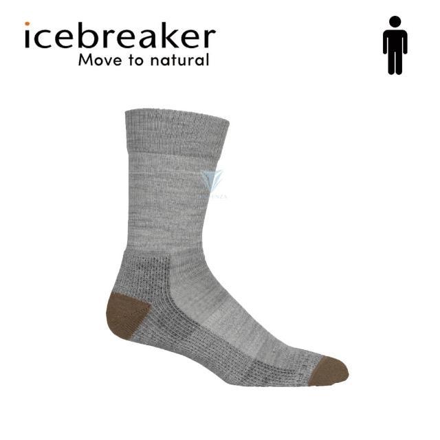 【Icebreaker】男 中筒薄毛圈健行襪-灰/咖啡 IB105113(美國製造/中筒/健行襪/美麗諾)