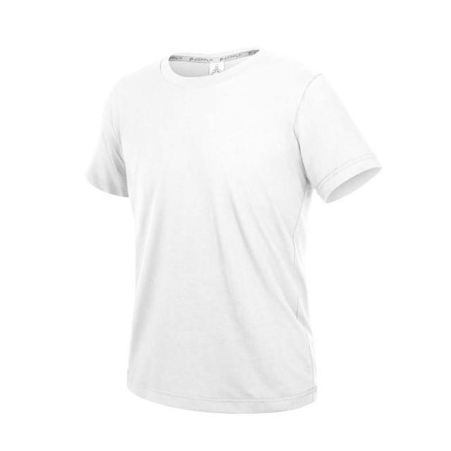 【HODARLA】ZERO DRY男女款機能排汗棉短袖T恤-台灣製 抗UV 反光 上衣 慢跑 白(3158401)