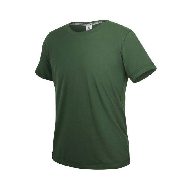 【HODARLA】ZERO DRY男女款機能排汗棉短袖T恤-台灣製 抗UV 反光 上衣 慢跑 軍綠(3158402)