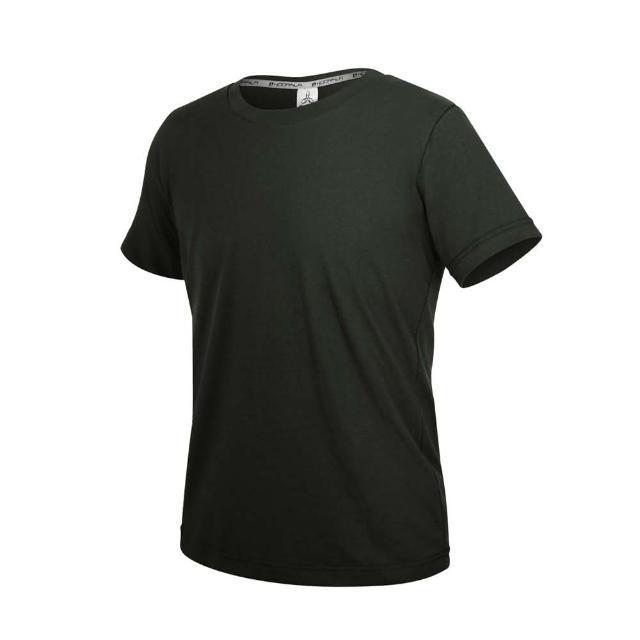 【HODARLA】ZERO DRY男女款機能排汗棉短袖T恤-台灣製 抗UV 反光 上衣 慢跑 黑(3158403)