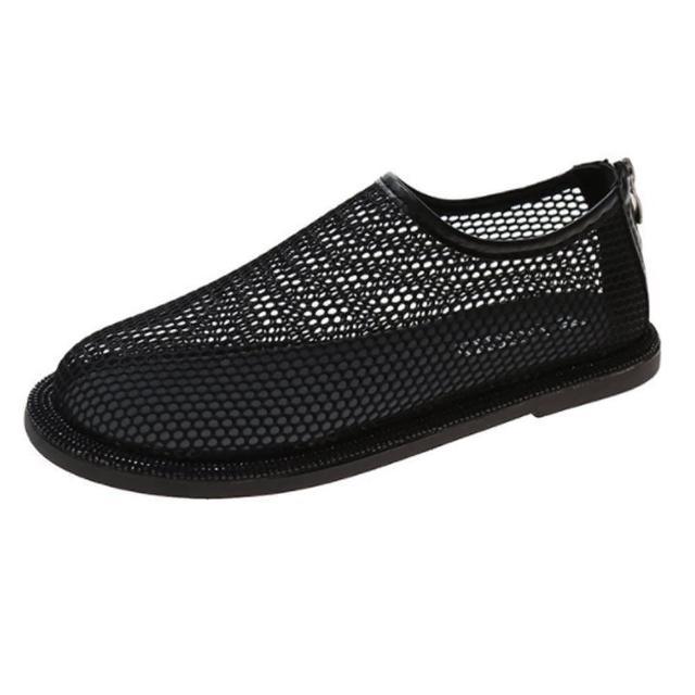 【Taroko】素色網面鏤空透氣平底涼鞋(4色可選)
