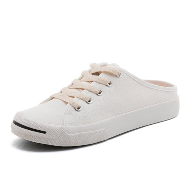 【Taroko】經典帆布厚底休閒穆勒鞋(4色可選)