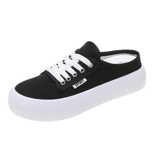 【Taroko】青春色彩帆布厚底穆勒鞋(5色可選)